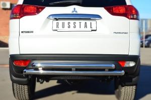 Mitsubishi Pajero Sport 2013 Защита заднего бампера d63 (дуга) d63 (дуга) MPSZ-001583